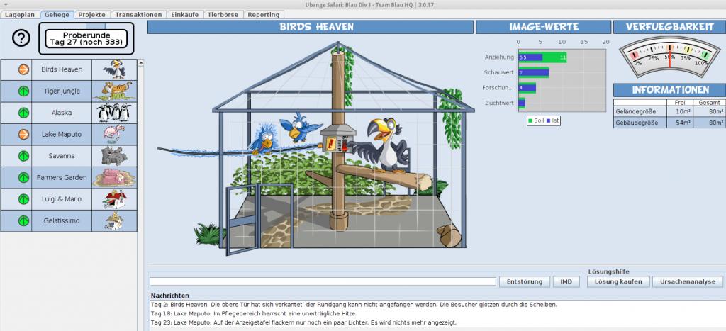 Ein Beispiel für gute Projektmanagement-Planspiele: Ubange Safari